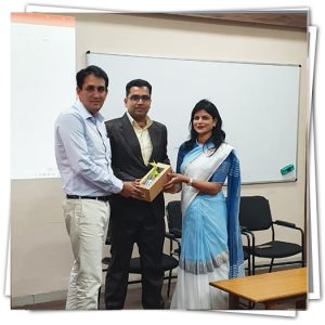 Session by Mr. Manish Sharma, head of Bridgestone Pvt. Ltd