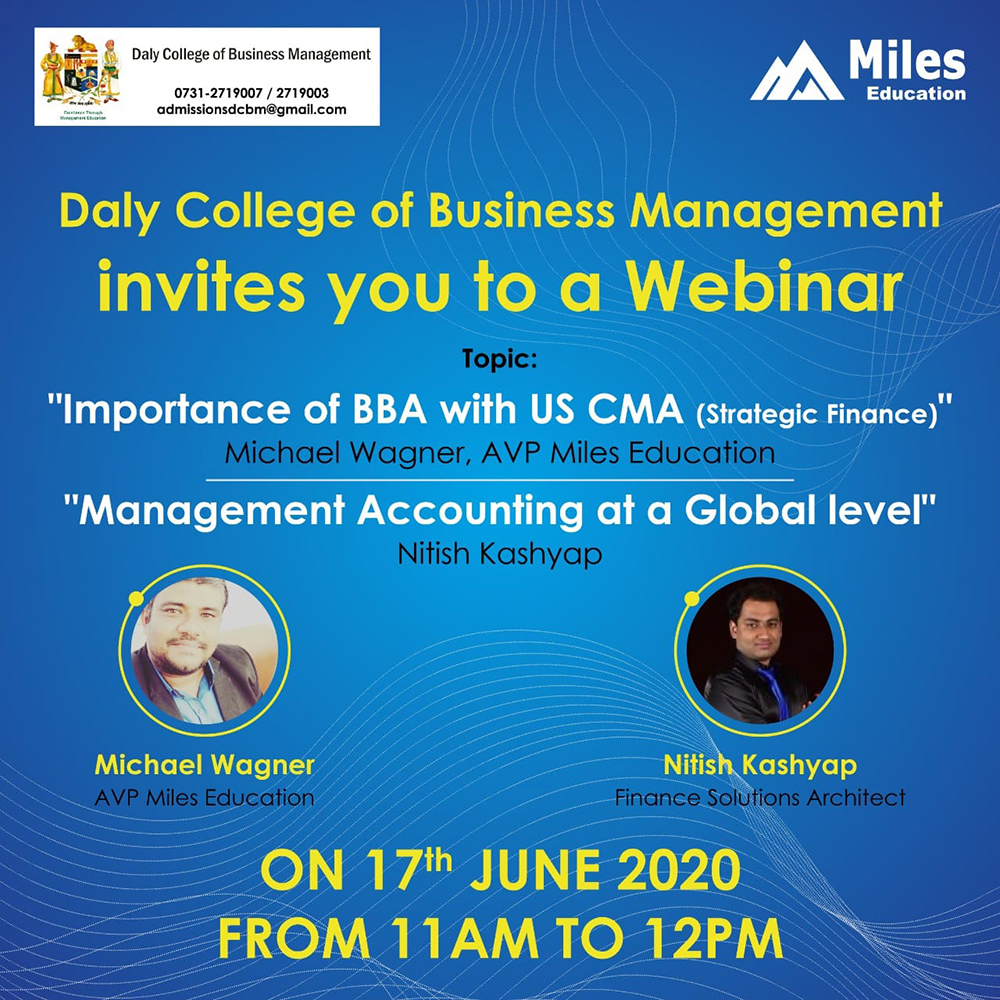 Importance of BBA with US CMA - Miles